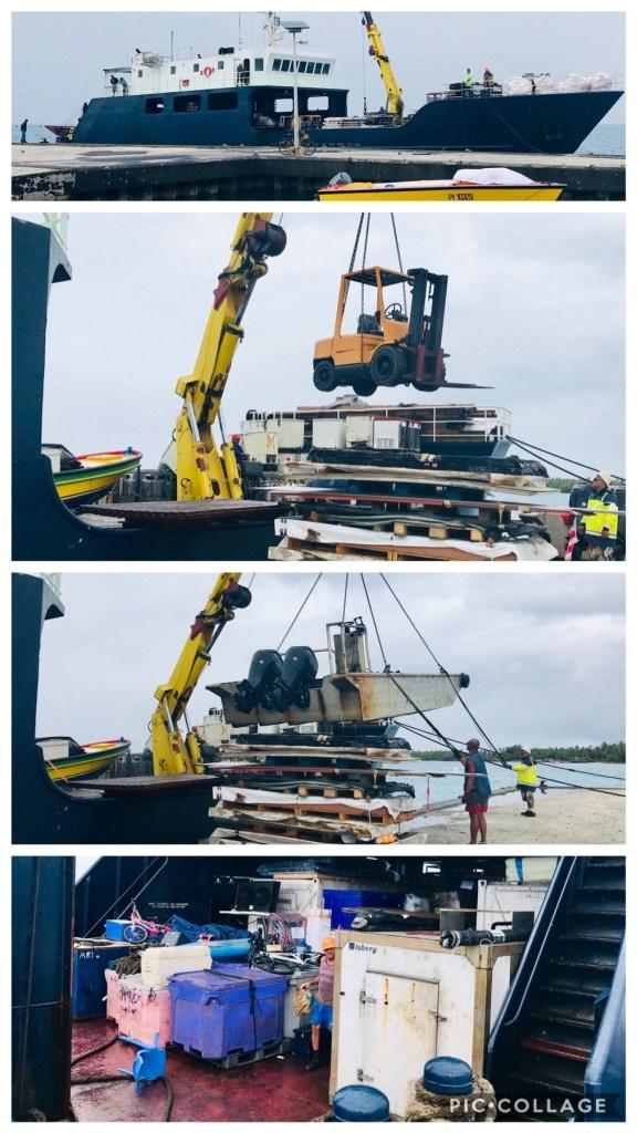 Supply Ship day in Fakarava
