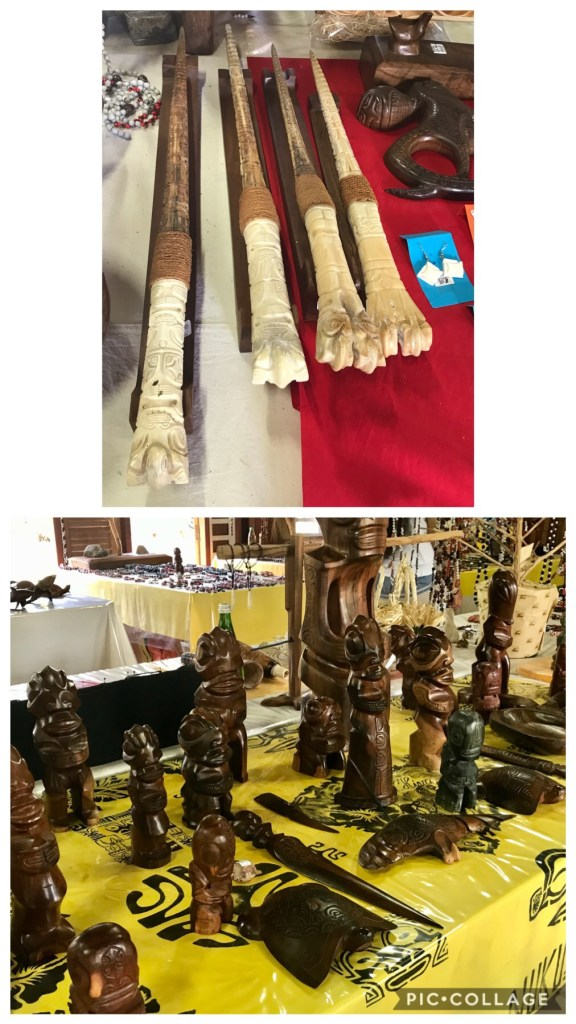 Wood and bone carvings