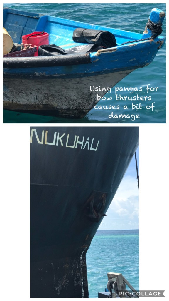 Damage by the bow thrusters?