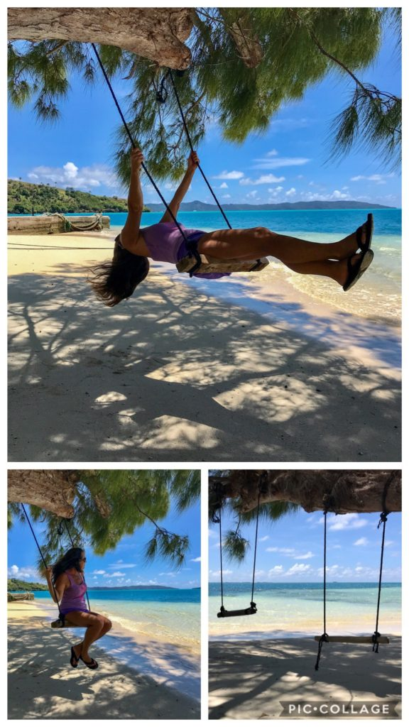 Life is good when you are on a swing