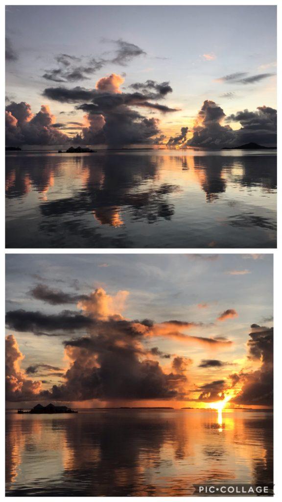 Sunrise surprises with its brillance