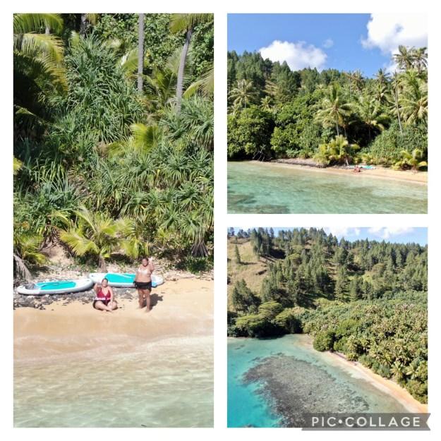 Polynesian Friends on beach