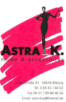 Astra K. mode & accessoires