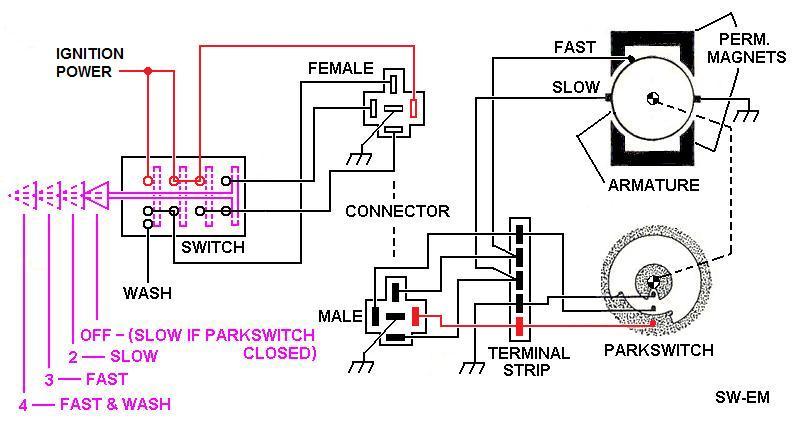 Wiper Motor Wiring Diagram