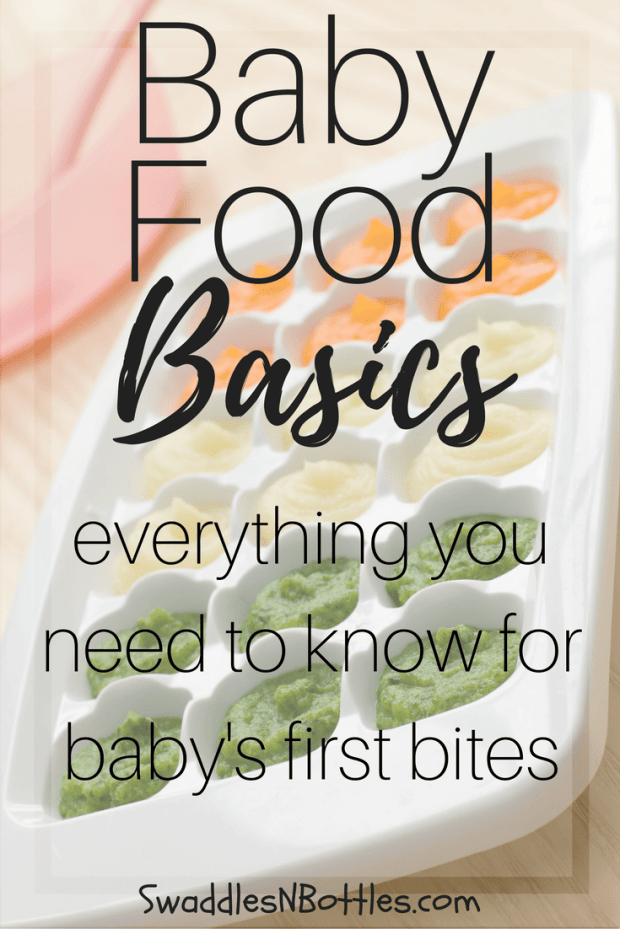 Baby Food Basics- Everything You Need to Know For Baby's First Bites