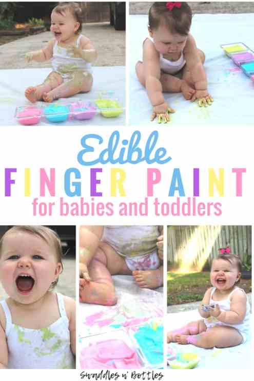 Edible Paint for Babies and Toddlers- Fun Indoor or Outdoor Sensory activities for kids!