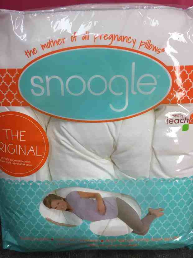 Snoogle pregnancy pillow. The BEST pillow to help you sleep better while pregnant