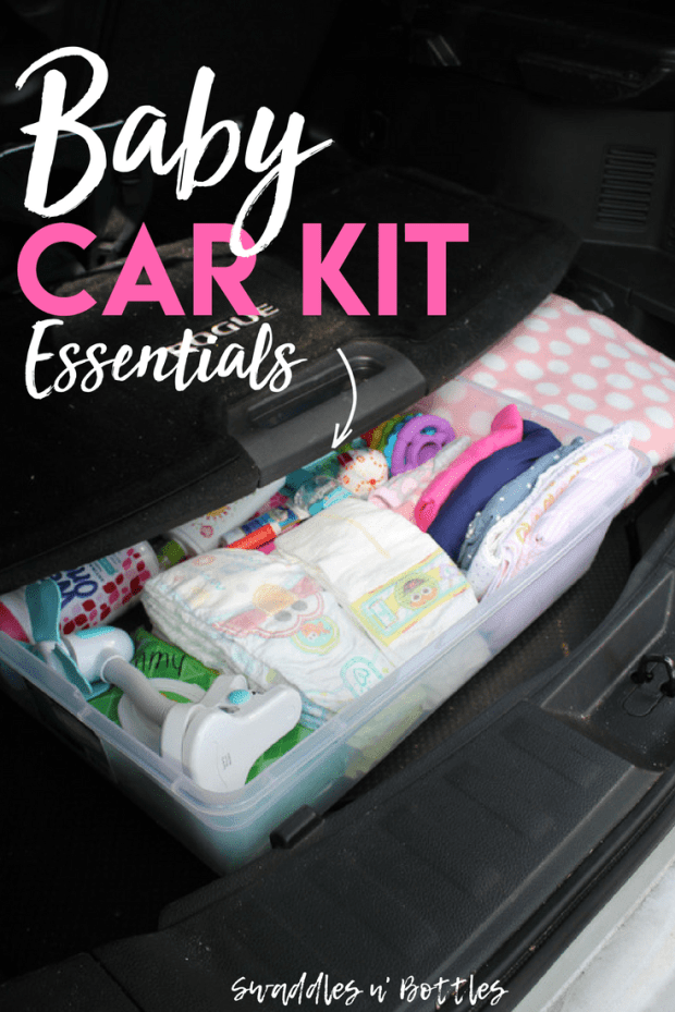 Baby car kit essentials. Everything you need on hand in you vehicle for any curve balls motherhood throws your way! Plus, this helps keep you diaper bag more organized (and not so heavy) when you don't have to carry EVERYTHING around with you!