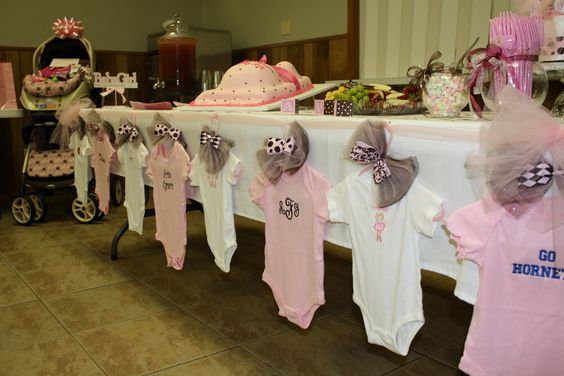 Baby Shower Decor on Budget- Baby clothes line