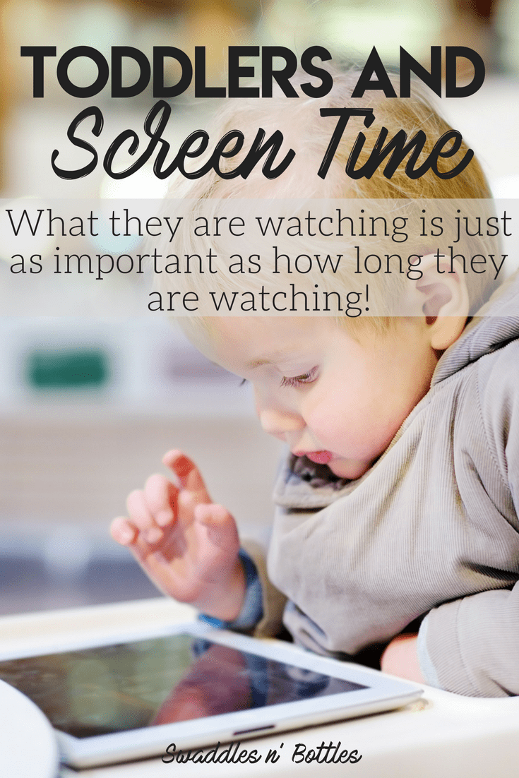 Toddlers and screen time- sometimes it isn't so much about watching the clock but monitoring WHAT they are watching. Plus- research shows that if parents watch WITH their children, screen time can be very beneficial to learning. List of great shows and apps included.