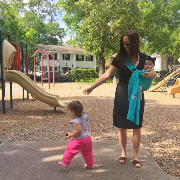 Tips to make breastfeeding in public easier. Little black nursing dress from Kindred Bravely.