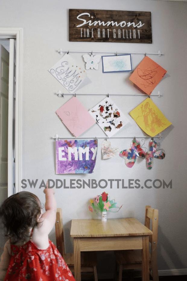 Emmy's Playroom Artwork Display
