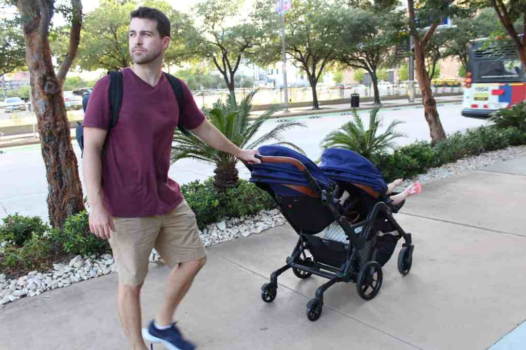 The easiest stroller to push, turn and maneuver is hands down the contours curve stroller