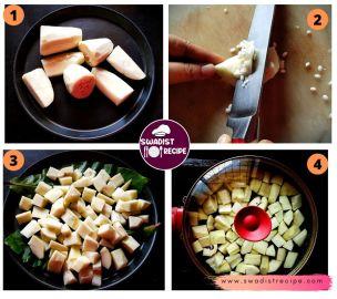 Kacche papite ki sabz Recipe Step 1