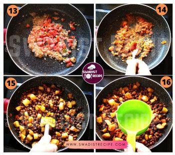 Kala chana Alu masala Recipe Step 4