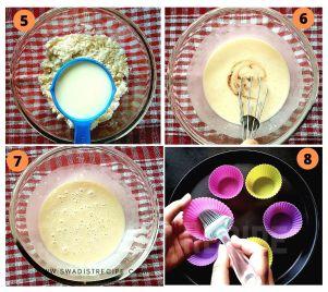 Eggless Muffins recipe Step 2