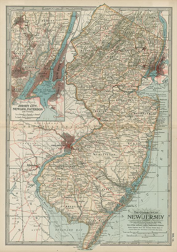 THE MATTEWS NORTHRUP CO The Century Atlas New Jersey