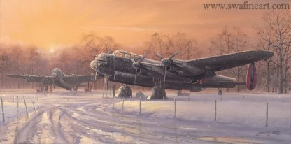 A Winter's Dawn Lancaster Bomber