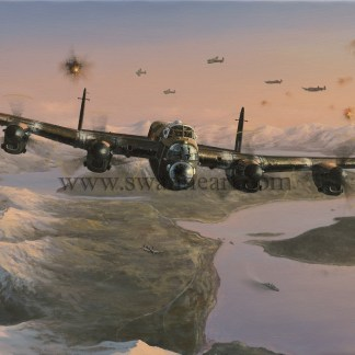 Avro Lancaster Attack on the Tirpitz Aviation card