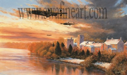 Welcome Sight - Halifax Bomber by Stephen Brown