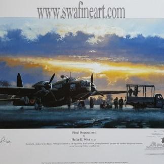 Final Prepations Vickers Wellington Bomber Philip West