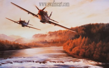 Long Distance Hunters - Mustang By Stephen Brown