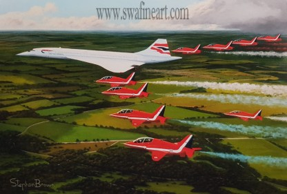 The Jubilee Flight Concorde and Red Arrows Stephen Brown