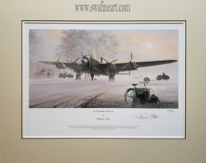 In the mists of time Lancaster Bomber