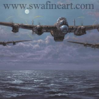 Lancaster Enemy Coast Ahead Birthday/greeting card