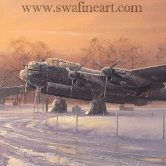 Lancaster A winters Dawn Christmas Card