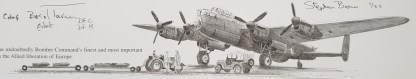 Lancaster over Kynance stephen Brown Remarque close up