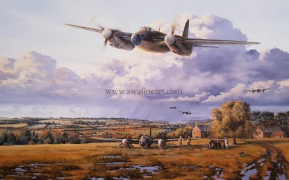 de-Havilland Mosquito In Safe Hands greeting card