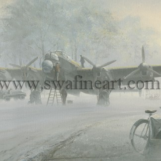 Avro Lancaster in the Mists of Time Christmas card