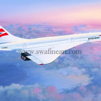 Concorde Queen Of The Skies greeting card