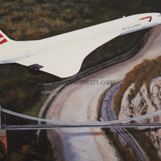 Concorde Homeward Bound Birthday card