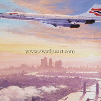 Concorde Early Morning Arrival greeting card