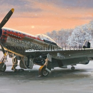 P-51D Mustang Early Morning Light xmas Card