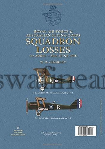 RAF AFC Losses 1918 Vol 1 Reverse of book