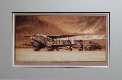 Last Flight Before Christmas BEA Rapide By Stephen Brown