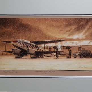 Last Flight Before Christmas BEA Rapide By Stephen Brown