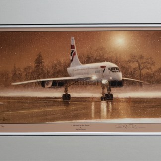 Concorde in the Snow By Stephen Brown
