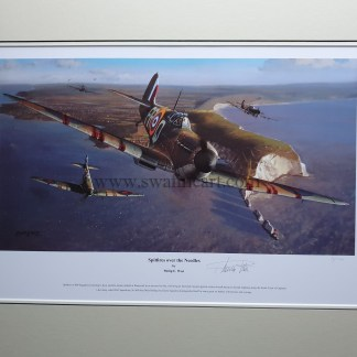 Spitfire Over The Needles Primary Mounted