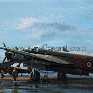 Avro Lancaster Ops On Time to Go Aviation cards