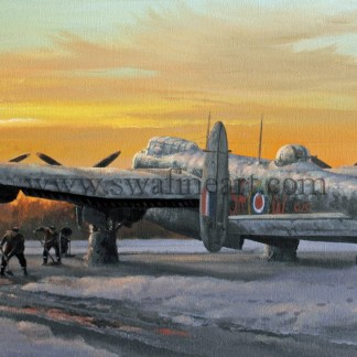 Avro Lancaster Winter of 43 Christmas cards