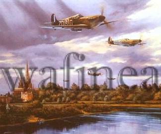 Supermarine Spitfire Lichfield 1940 Aviation cards