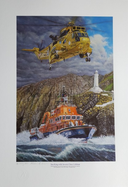 Sea King with Severn Class Lifeboat