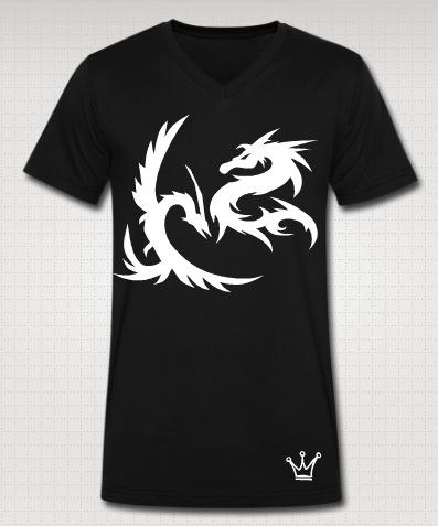 dragon vneck black