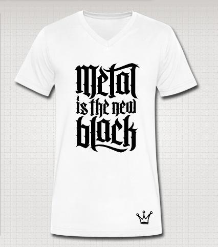 metal vneck white