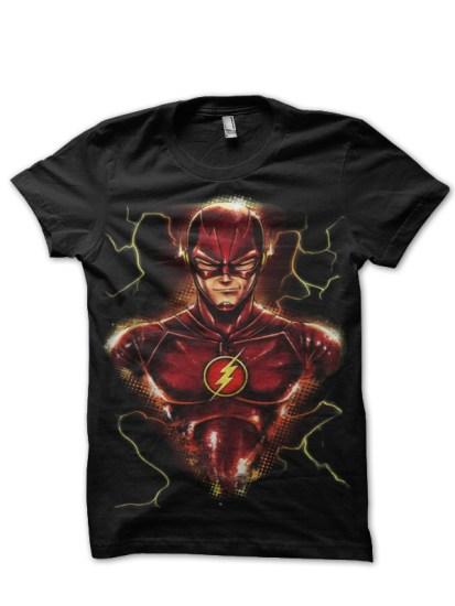 thunder flash black tee
