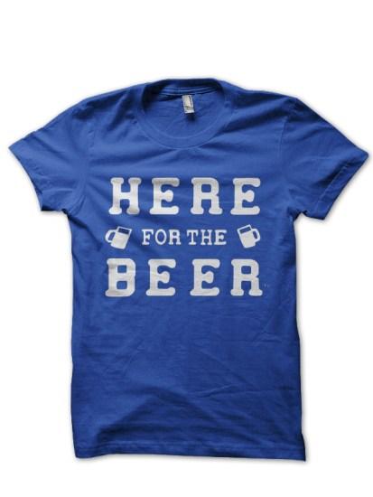 beer royal blue tee
